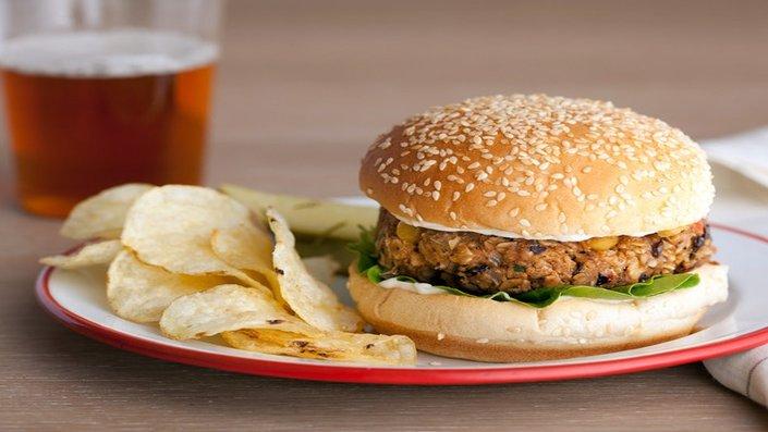 Spicy Veggie Bean Burgers