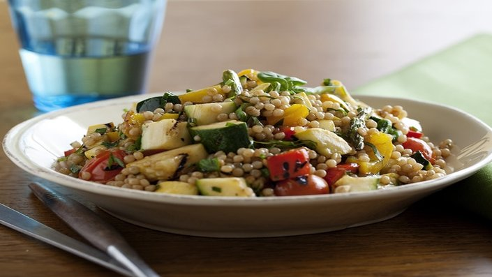 Toasted Israeli Couscous with Vegetables